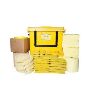 PIG® Essentials Chemical Spill Kit - Wheeled Container with Drop Front